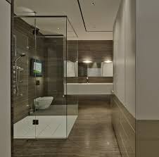 awesome modern design of the wooden shower room ideas that has