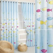 Fish Curtains Light Blue Fish Bedroom Length Curtains Uk