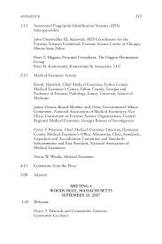 appendix b committee meeting agendas strengthening forensic