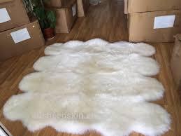 Washable Sheepskin Rug Bottom Price Double Sheepskin Rug Machine Washable Carpet Rug