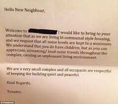 mother u0027s fury over anonymous letter from neighbour that urged her