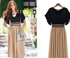 slicing slim short sleeve casual knit chiffon dress plus size