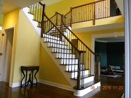 Install Banister Wood Stairs And Rails And Iron Balusters Install Iron Balusters