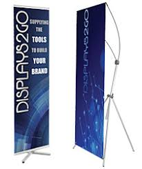 banner stands event flags promotional trade show displays