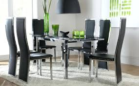 glass dining room tables and chairs modern 5 pieces kitchen dining