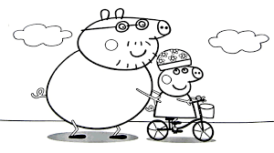 peppa pig daddy pig coloring book coloring pages kids fun art