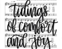 Hymns Of Comfort We Have This Hope Hand Lettered Hymn Digital Print