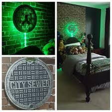 Ninja Turtle Bedroom Teenage Mutant Ninja Turtles Inspired Bedroom Einrichten