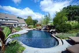 Backyard Inground Swimming Pools Backyard Swimming Pools Waterfalls U0026 Natural Landscaping Nj