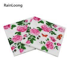 paper napkins rainloong floral paper napkins flower festive party tissue