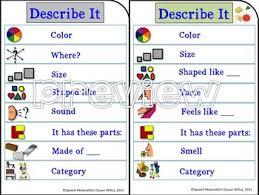 describe it speech therapy describe it visual prompt for attributes describing