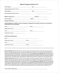 26 images of emergency medical release form template infovia net