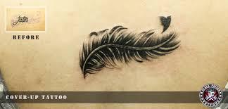 amazing cover up bird feather black poison studio