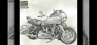 how to draw a harley davidson road glide drawing u0026 illustration
