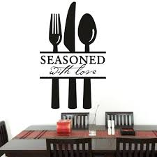 35 diy modern decor spoon fork knife kitchen wall sticker seasoned 35 diy modern decor spoon fork knife kitchen wall sticker seasoned with love quotes wall decals dining room wallpaper home decor dining table decals