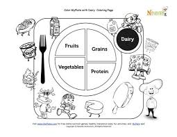 My Plate Dairy Coloring Sheet Free National Nutrition Month 20625 Plate Coloring Page