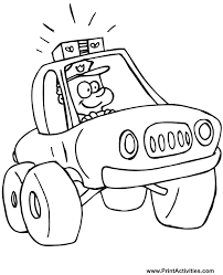 policeman coloring pages kids coloring