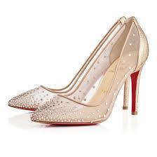 chaussures femme mariage chaussures de mariage avec strass louboutin pour femme goldy mariage