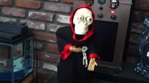 vintage gemmy head losing skeleton halloween decoration youtube