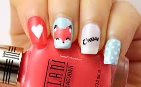 liquid jelly nail art foxy valentine