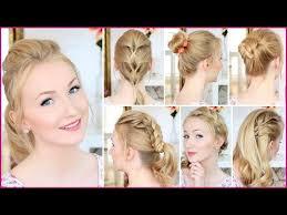 Einfache Elegante Frisuren F Lange Haare by 10 Frisuren In 8 Minuten Schnell Einfach Mittellanges Haar