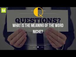 what is the meaning of the word niche