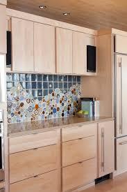 Kitchen Backsplash Accent Tile Fascinating Backsplash Light Wood Kitchen Cabinets Modern With