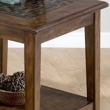 jofran baroque end table baroque end table with mosaic tile inlay in brown