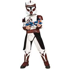 buy star wars clone wars deluxe commander fox child costume