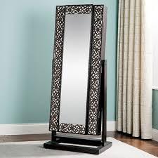 jewlery armoire mirror jewelry armoire mirrored lattice front worthington polyvore