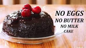 eggless chocolate cake in microwave no butter no milk no eggs