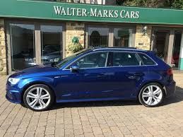 audi a3 scuba blue 14 14 audi a3 1 4 tfsi s line sportback with panoramic sunroof sold