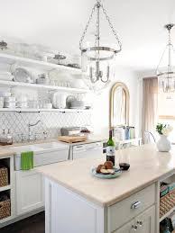 Cottage Kitchen Backsplash Best Kitchen Countertop Pictures Color Material Ideas Open