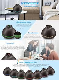 amazon com urpower 400ml wood grain essential oil diffuser
