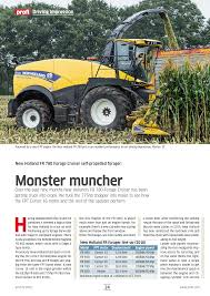 monster muncher review new holland fr forage harvester garton