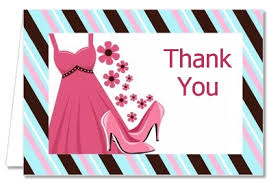 birthday thank you cards dress sweet 16 thank you