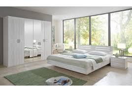 wã stmann schlafzimmer schlafzimmer mit bett 180 x 200 cm weisseiche aufleistung chrom