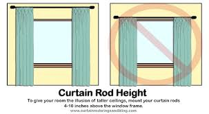 Curtain Rods Installation Where To Hang Curtain Rods Hpianco
