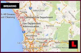 california map carlsbad 2014 map today california fires strike palomar airport area
