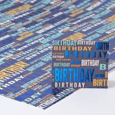 blue foil wrapping paper blue foil birthday luxury wrapping paper gift tag only 69p