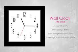 Wall Clock Wall Clock Mockup V2 By Aivos Thehungryjpeg Com