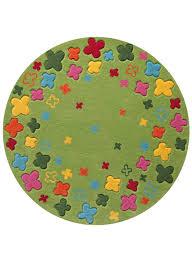 tapis rond chambre tapis rond chambre enfant bloom field vert de la collection esprit