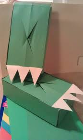 your finished dinosaur feet tissue box craft woo jr kids