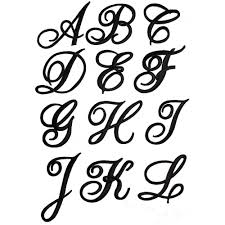iron on monogram initials embroidered iron on script letters sold separately in white black