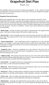 grapefruit diet plan part 1 top secret of