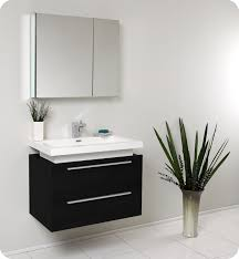 designer bathroom vanity fresca medio black modern bathroom vanity and medicine cabinet