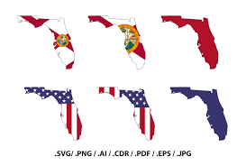 Florida State Map by Florida State Map With Flag Outline Florida Flag State Decor