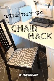 Chair Seat Covers 4 Diy Chair Makeover In 15 Minutes Diy Chair Upholstery Busy