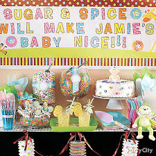 Party City Balloons For Baby Shower - gender neutral baby shower treats table idea party city