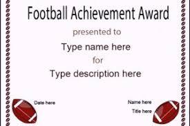 football certificate sample templatezet